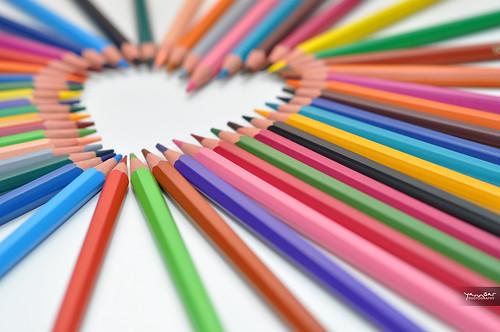 lápis de cor coloridos - Imagem: YannGarPhoto - Flickr
