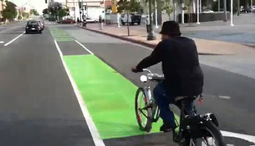 First Street bike lane video snap shot