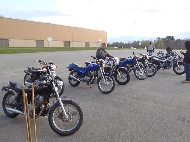 Trainer bikes: Yamaha TW200, Honda Rebel, Honda Nighthawk