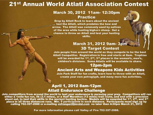 21th Annual World Atlatl Association Contest