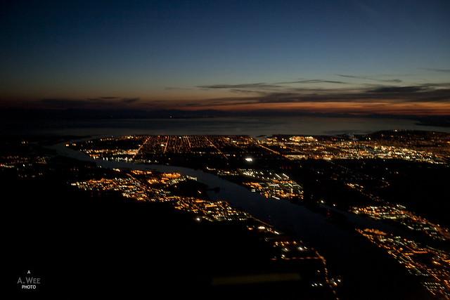 Descent over Richmond, BC
