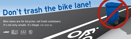Dont Trash the Bike Lane Campaign