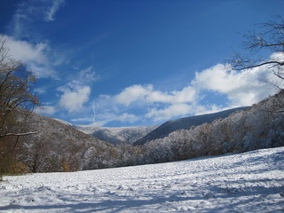 early snow at Mount Greylock