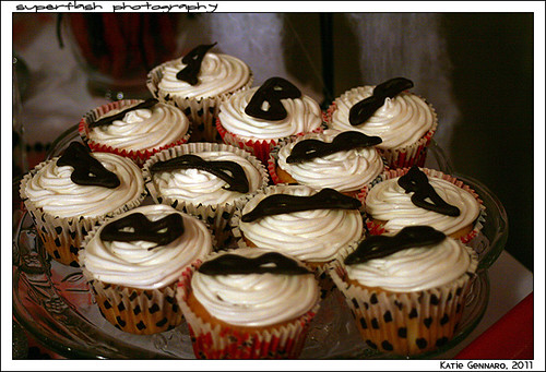 masked cupcakes