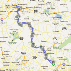 wc-05. Bike Route Map. Washington Crossing State Park.