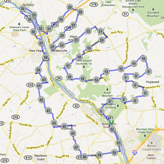 wc-14. Bike Route Map. Washington Crossing State Park.