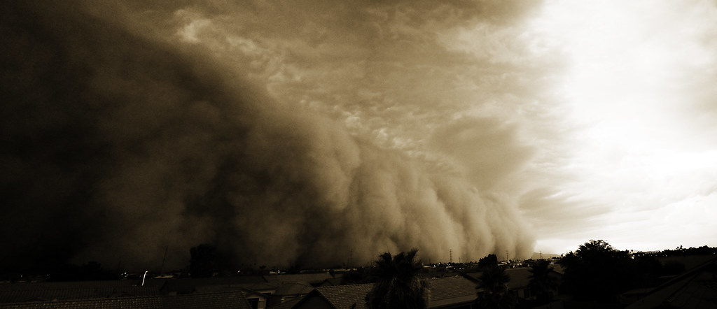 Haboob Over Phoenix Arizona