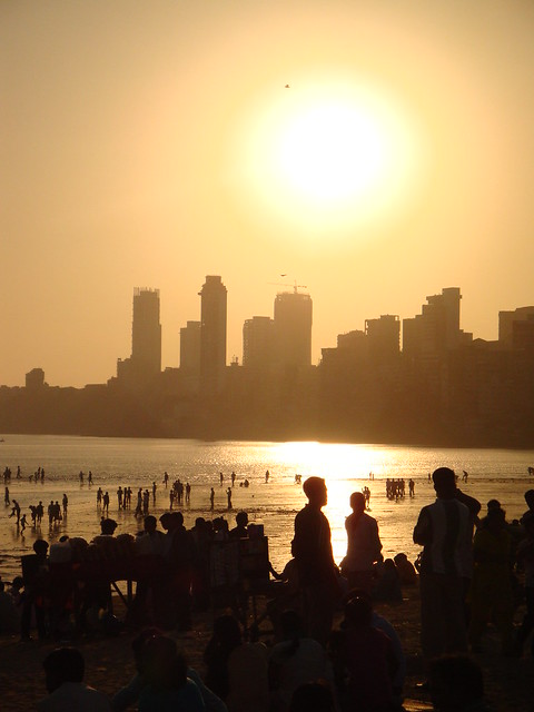 Chowpatty Beach at Sunset