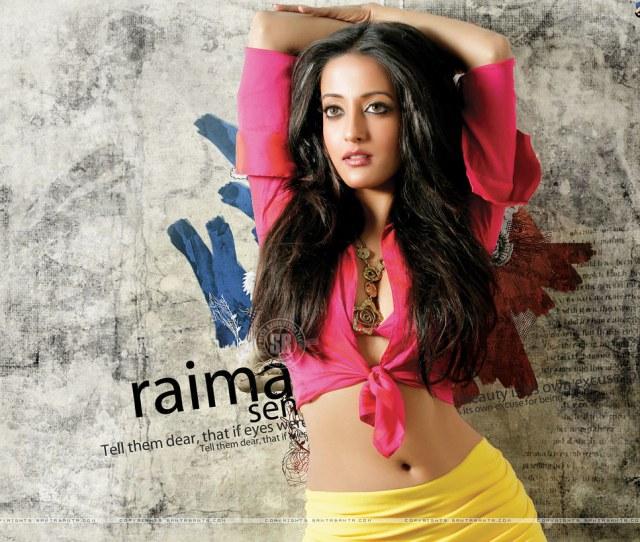 Bengali Actress Raima Sen Sexy Hot Navel Boobs