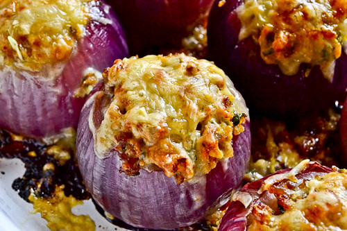 Sausage-Stuffed Red Onions 12