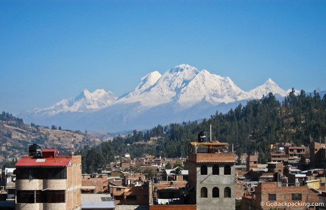Huascaran, as seen from my hostel in Huaraz