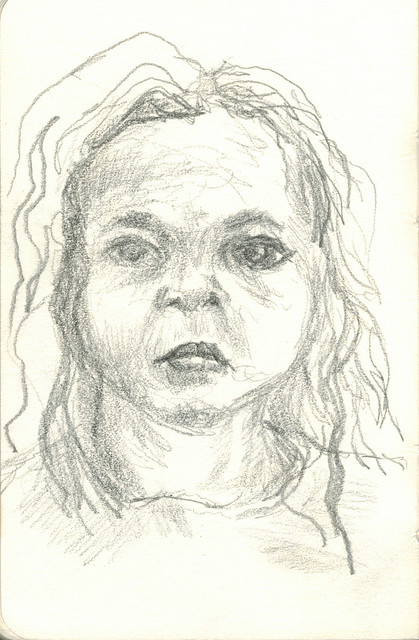 young girl pencil 2