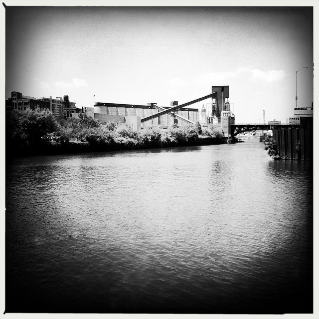 Goose Island in black and white