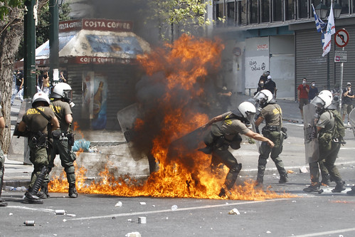 Athens riots: Greek general strike