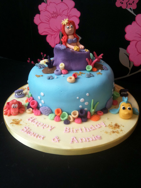 Cirencester Cupcakes - The Little Mermaid Birthday Cake