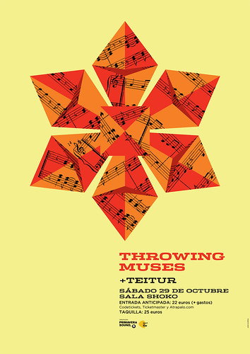 Throwing Muses + Teitur, el sábado 29 de octubre en la sala Shoko de Madrid.