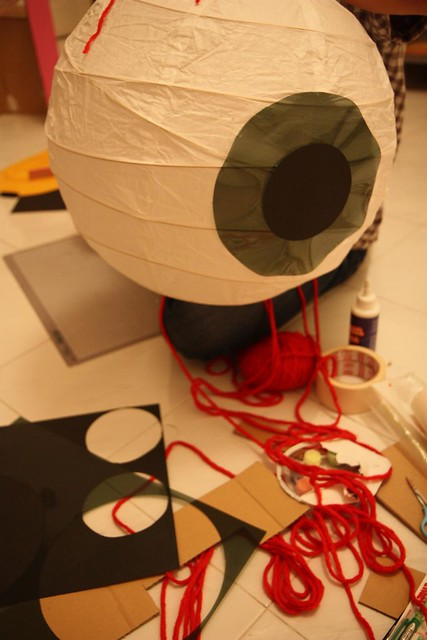 the making of giant eyeball