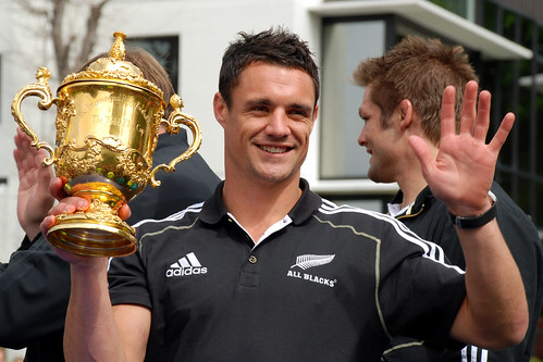 Dan Carter with The Cup