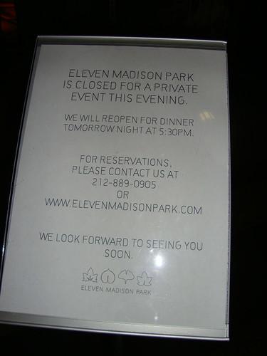 Eleven Madison Park 11/11/11