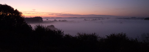 Mist rising over the Ouse Valley