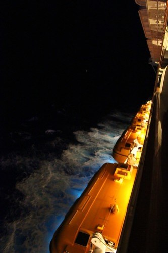 Night balcony view - Disney Fantasy