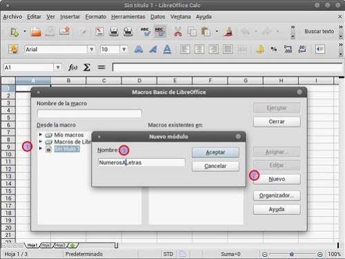 Agregando un módulo nuevo de LibreOffice Basic