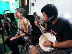 Godinho, Lia, Mario e o banjo