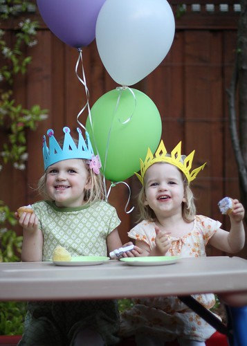 Juliet and Claire at Claire's Fourth Birthday Party