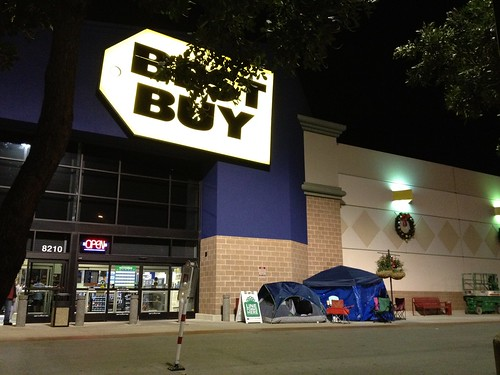 Best Buy camping shoppers