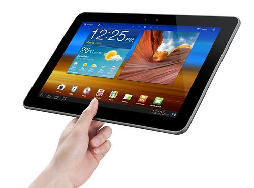 Samsung Galaxy Tab 10.1 mit Android 3.1 Honeycomb - gekippt