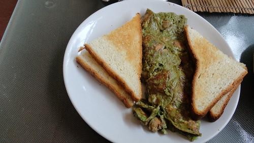 Chicken Basil Omelette