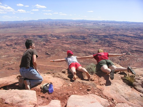 Flying in the canyonlands