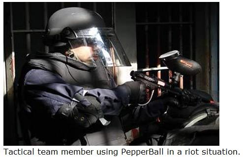Pepper ball - tactical team member prison