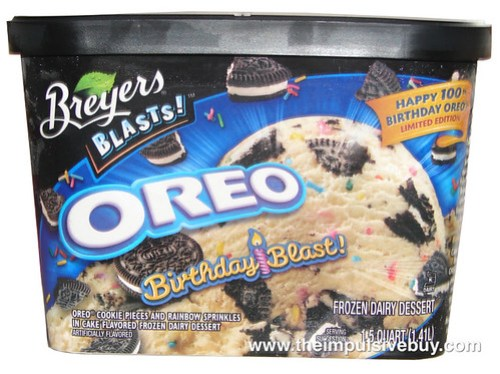 Breyers Limited Edition Oreo Birthday Blast