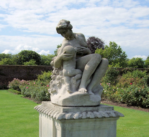 Abundance Statue In The Rose Garden, Hampton Court Palace - London.