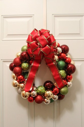 Ornament Wreath I made....