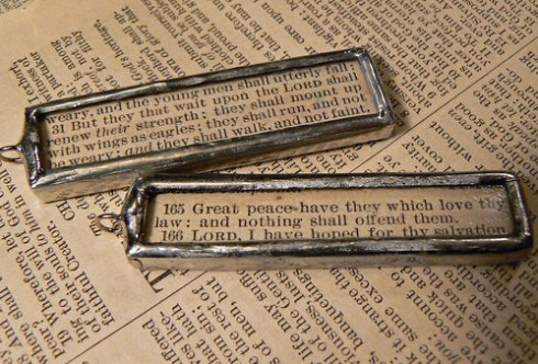 Scripture pendants
