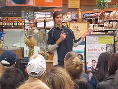 Brendan Brazier presenting at Whole Foods