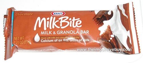 Kraft MilkBite Chocolate Milk & Granola Bar Wrapper