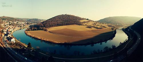 Der Dilsberg und der Neckar