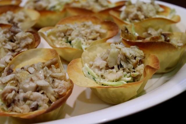 fish tacos in wonton wraps