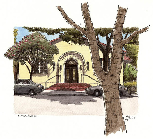 old city hall, davis CA