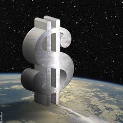 Dollar Sign in Space - Illustration