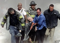 Recovery of the body of Father Judge, 9/11, by Shannon Stapleton