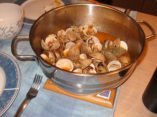 Warty venus clams