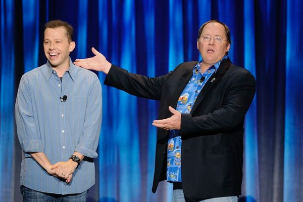 Jon Cryer and John Lasseter