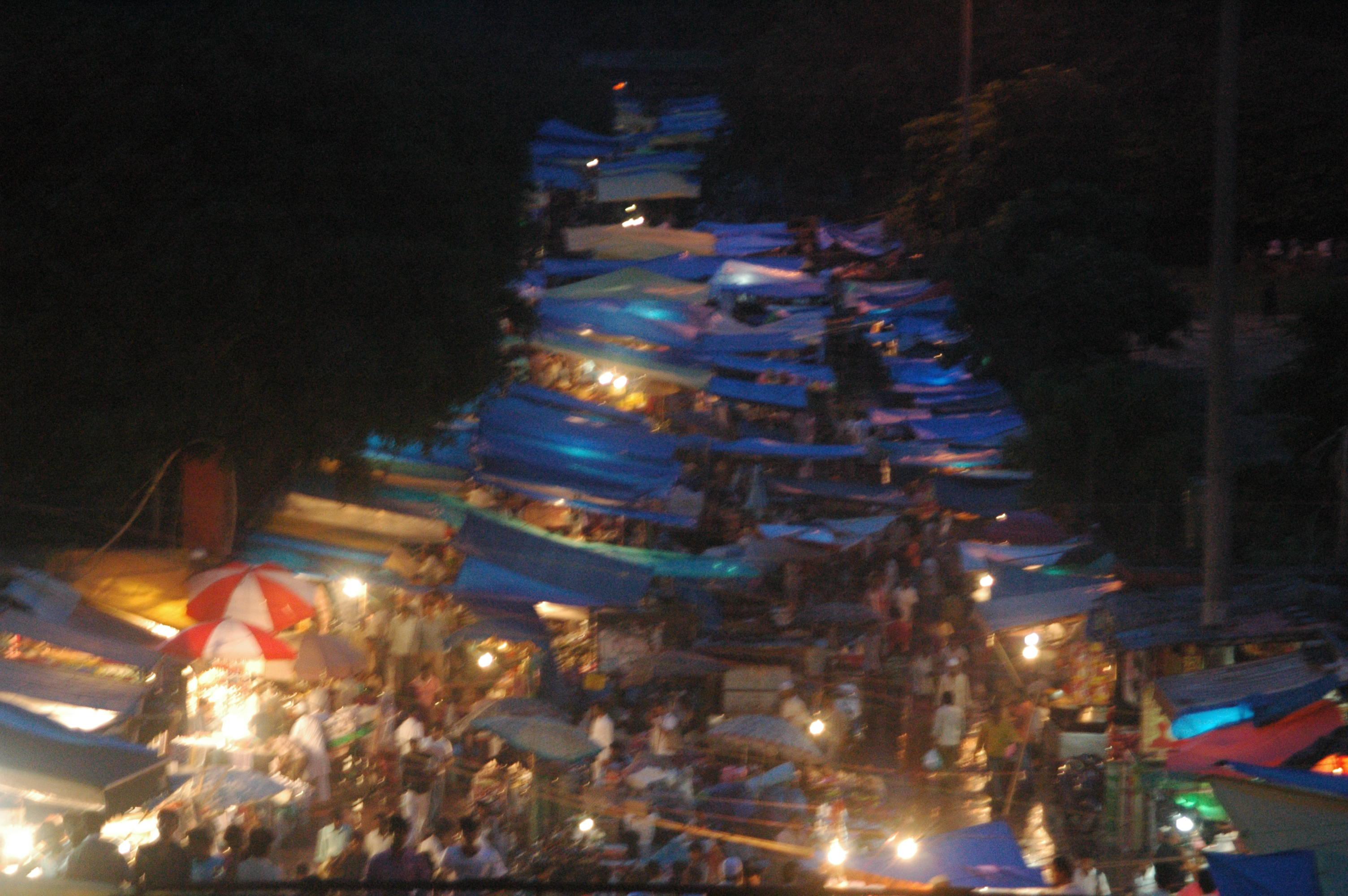 Meena Bazaar looks the busiest from Jama masjid; people thronging to grab something before entering the masjid