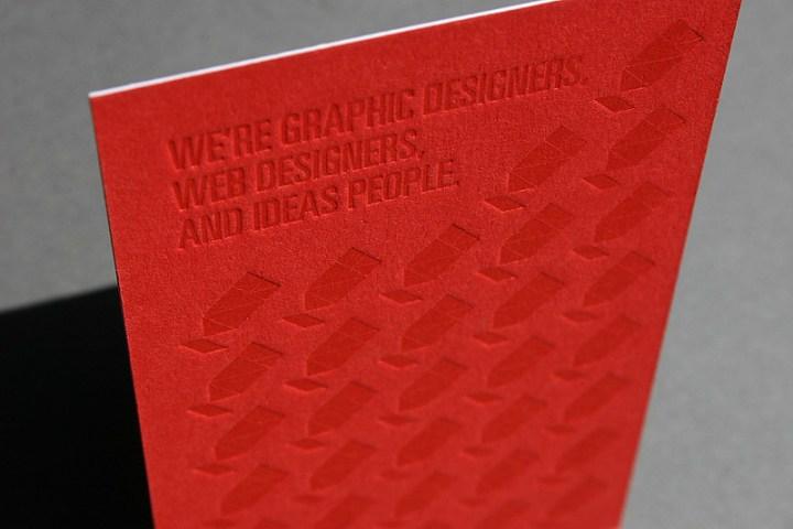 Genius Division Letterpress Business Cards