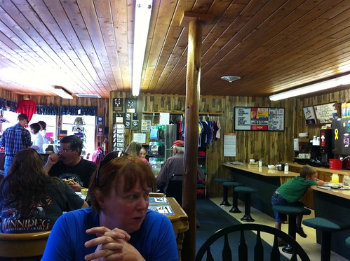 Interior of Ryan's Wilderness Cafe
