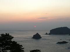 南伊豆から見る夕日